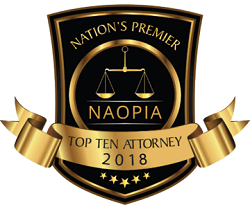 NAOPIA Top Ten Attorneys badge